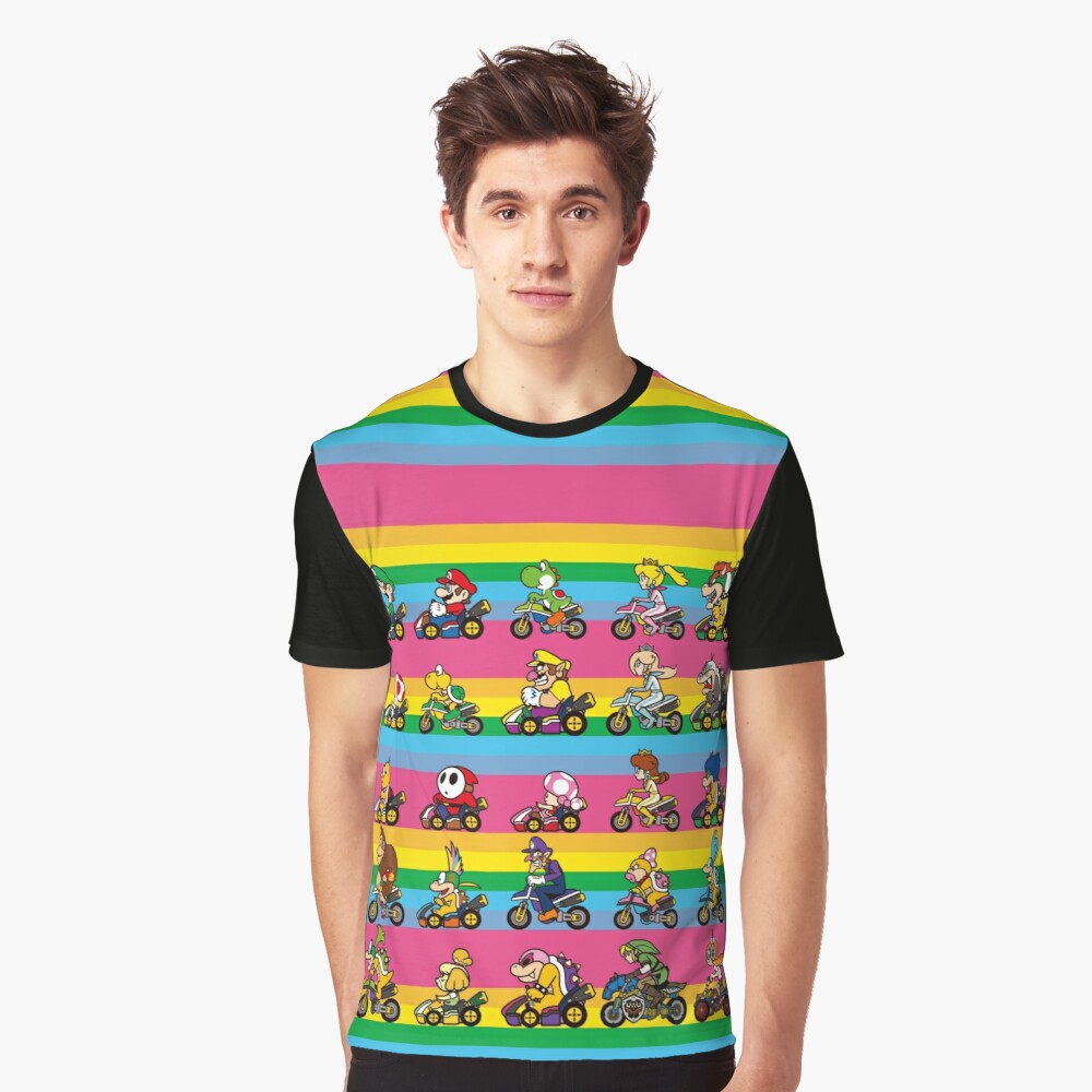 Luxurious Race Graphic T-Shirt Front