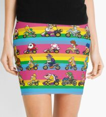 Luxurious Race Mini Skirt