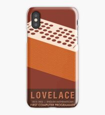Science Posters - Ada Lovelace - Mathematician iPhone Case/Skin