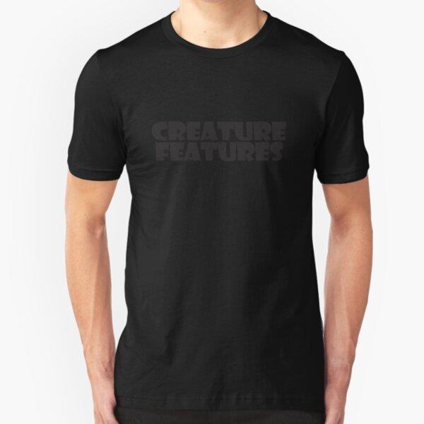 Black Logo On Black Slim Fit T-Shirt