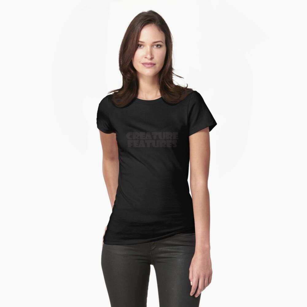 Black Logo On Black Womens T-Shirt Front