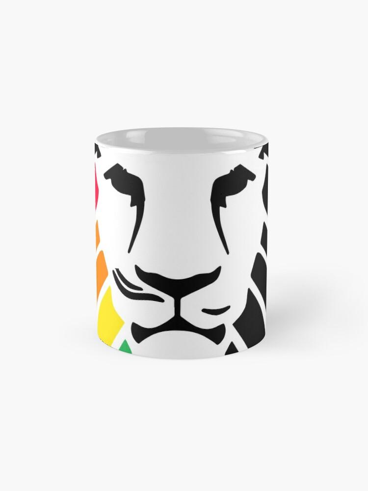 Alternative Ansicht von Regenbogen-Löwenkopf Tassen