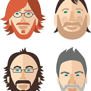 Trey, Fish, Mike, Page as Vector Characters by robinmcgill