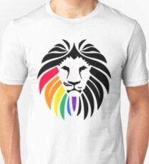 Rainbow Lion Head Unisex T-Shirt