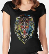 stencil lion Women's Fitted Scoop T-Shirt