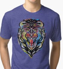 stencil lion Tri-blend T-Shirt
