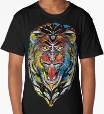 stencil lion Long T-Shirt