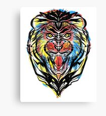 stencil lion Canvas Print