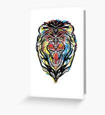 stencil lion Greeting Card