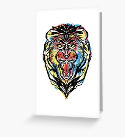 stencil lion Greeting Card