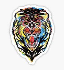 stencil lion Sticker