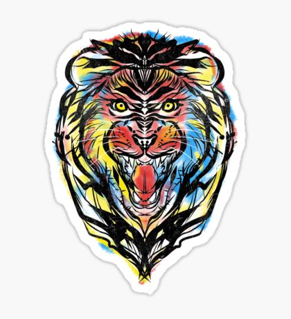 stencil lion Sticker