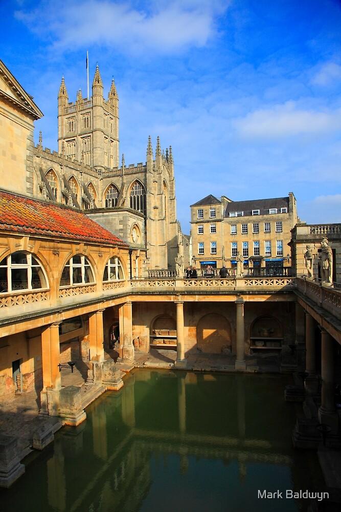 Roman Baths, Bath England by Mark Baldwyn
