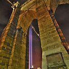 Brooklyn Bridge Tower by Peter Bellamy