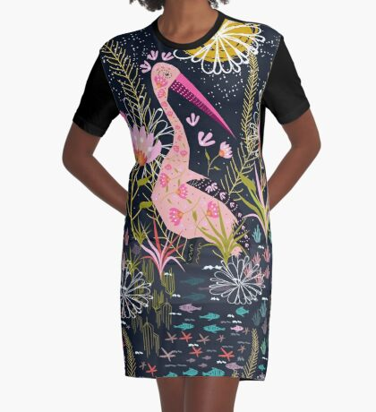 Pelican Life Graphic T-Shirt Dress