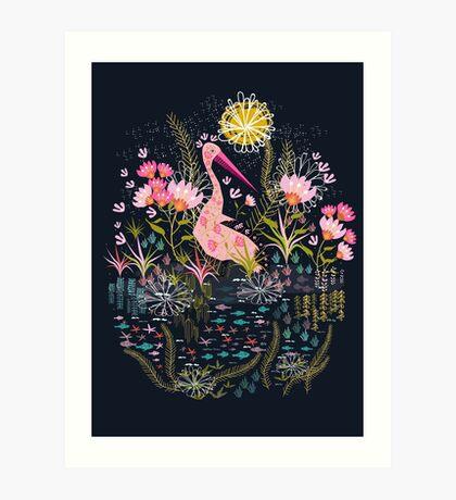 Pelican Life Art Print
