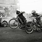 Speedway - Accelerating away II by Richard Flint