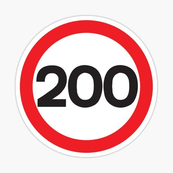 200 Max Speed Sticker