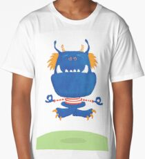Meditating Monster Long T-Shirt