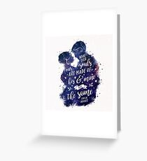 Whatever our souls Greeting Card