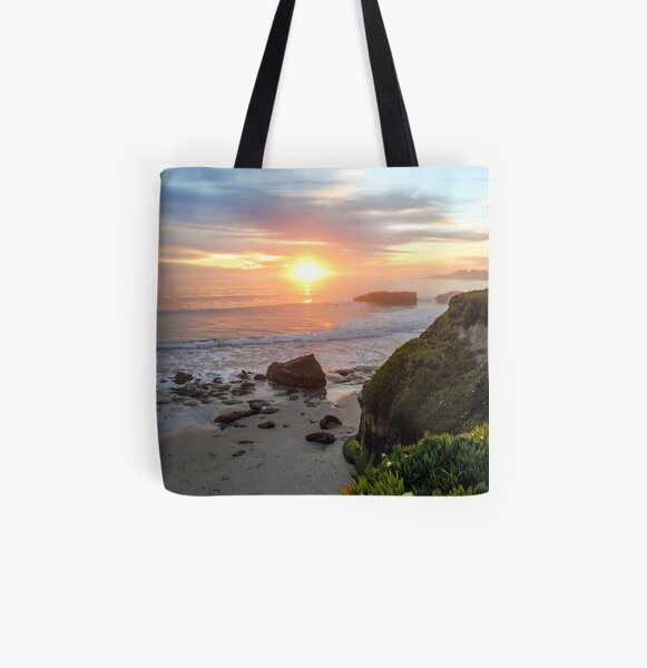 West Cliff Sunset All Over Print Tote Bag