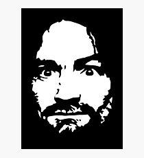 Charles Manson - Silhouette - Shirt Photographic Print