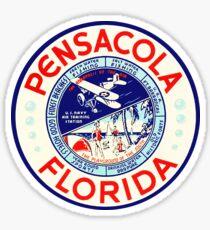 Pensacola Florida Vintage Travel Beach Fishing Navy Airplane Sticker Sticker