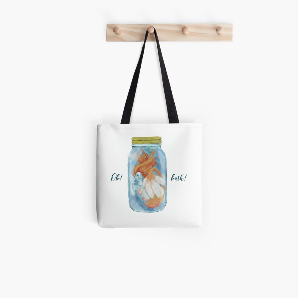 Pickles the Mermaid in a Jar Tote Bag