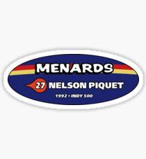 1992 NELSON PIQUET (US 1992) Sticker