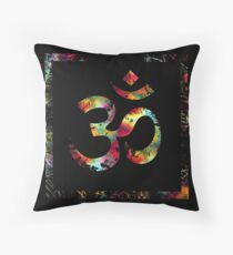 Tie Die Painted Ohm Symbol Squared Throw Pillow