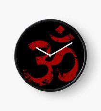Red Painted Ohm Symbol Clock