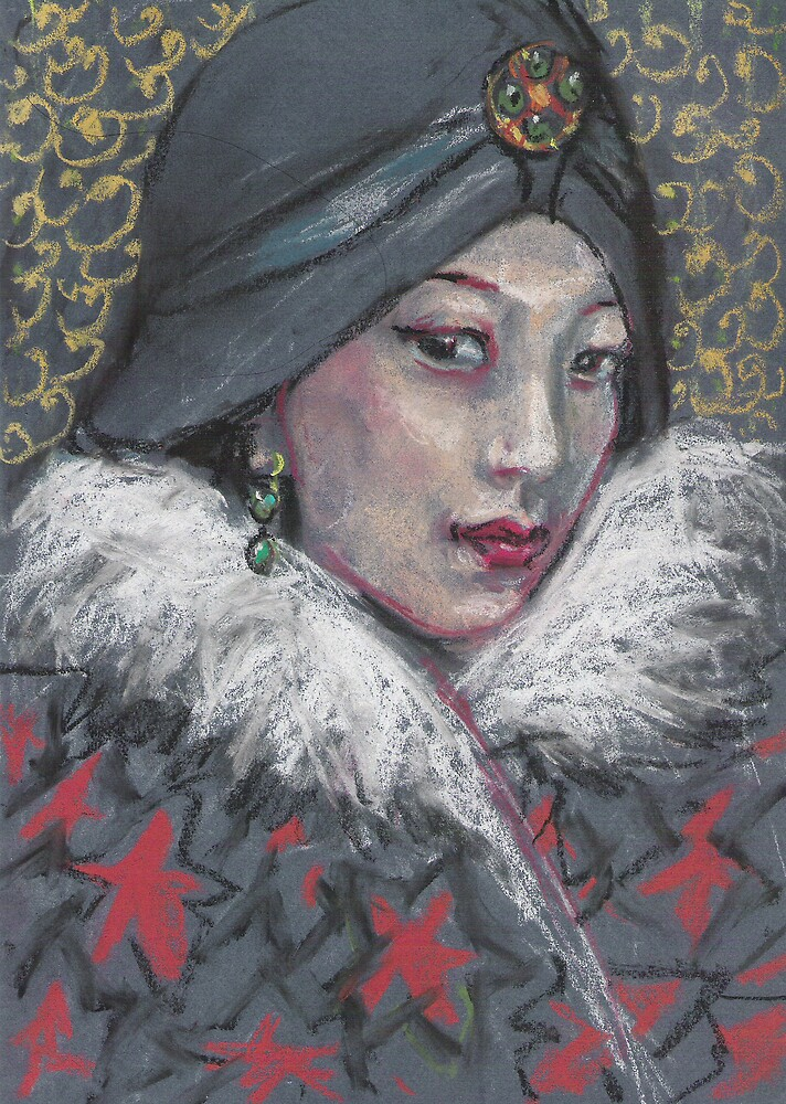 Woman with earring by Fiona O'Beirne