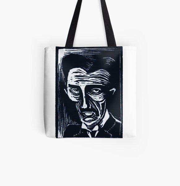 tesla (version 1 blue) All Over Print Tote Bag