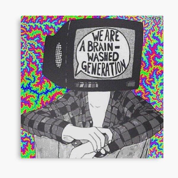Nous sommes un T-shirt de génération lavé au cerveau Impression sur toile