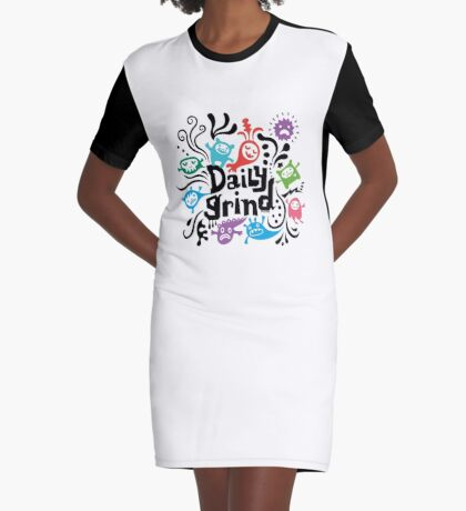 Daily Grind  Graphic T-Shirt Dress