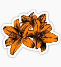 Orange Lilies Screen Print Sticker
