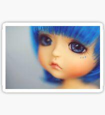 Blue baby doll Sticker