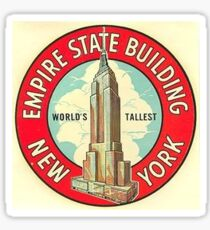 Vintage Empire State Building Sticker