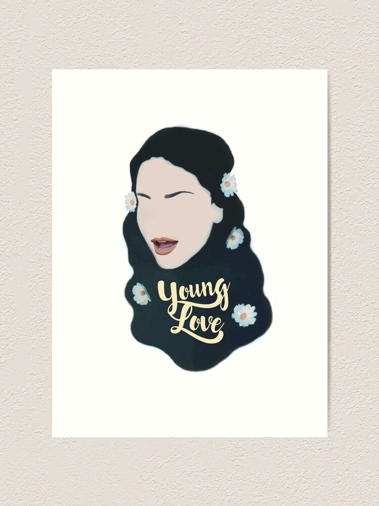 Young In Love Lana Del Rey Art Print By Magentamae Redbubble