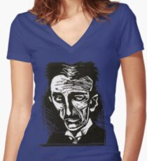 tesla (version 2) Women's Fitted V-Neck T-Shirt