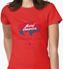 American Gods - Motel America Womens Fitted T-Shirt