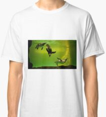 penguins playing underwater Classic T-Shirt