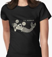 Laying Fiji - Art By Kev G Women's Fitted T-Shirt