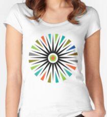 Starburst     t shirt  Women's Fitted Scoop T-Shirt