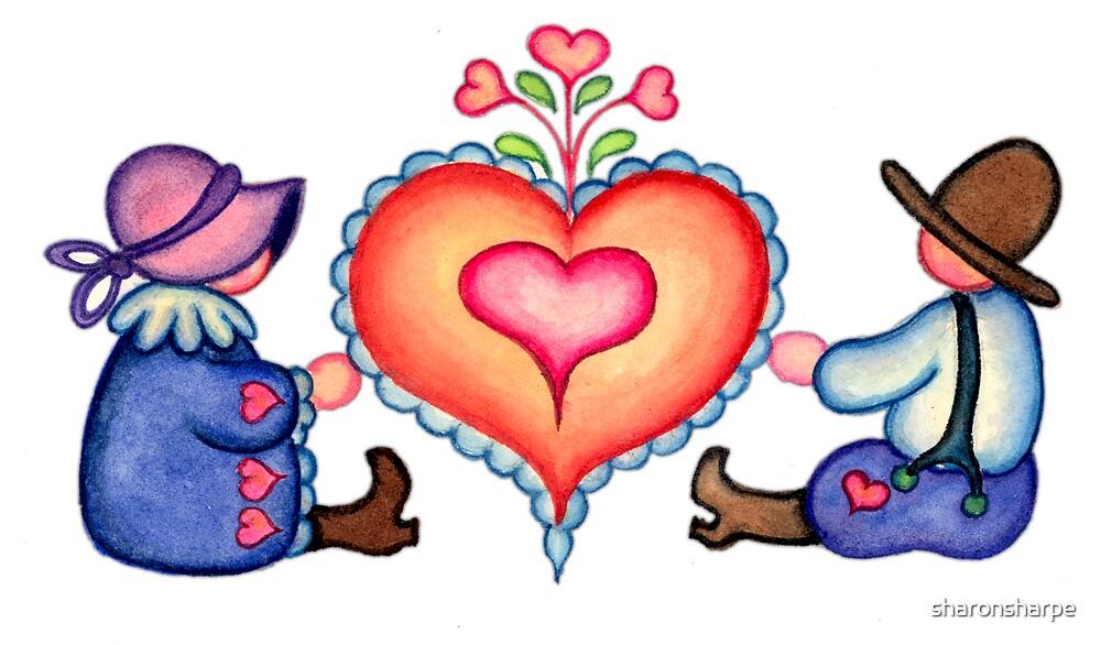FANCY HEARTS & COUPLE by SHARON SHARPE by sharonsharpe