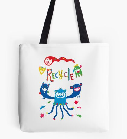 Recycle Monsters   Tote Bag