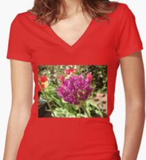 Prelude to Summer - Allium Opening Women's Fitted V-Neck T-Shirt