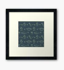 Dinosaur Pattern - Cute Illustrations Framed Print