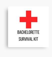 Bachelorette Survival Kit Canvas Print