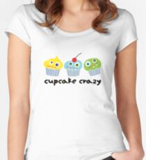 Cupcake Crazy  Women's Fitted Scoop T-Shirt